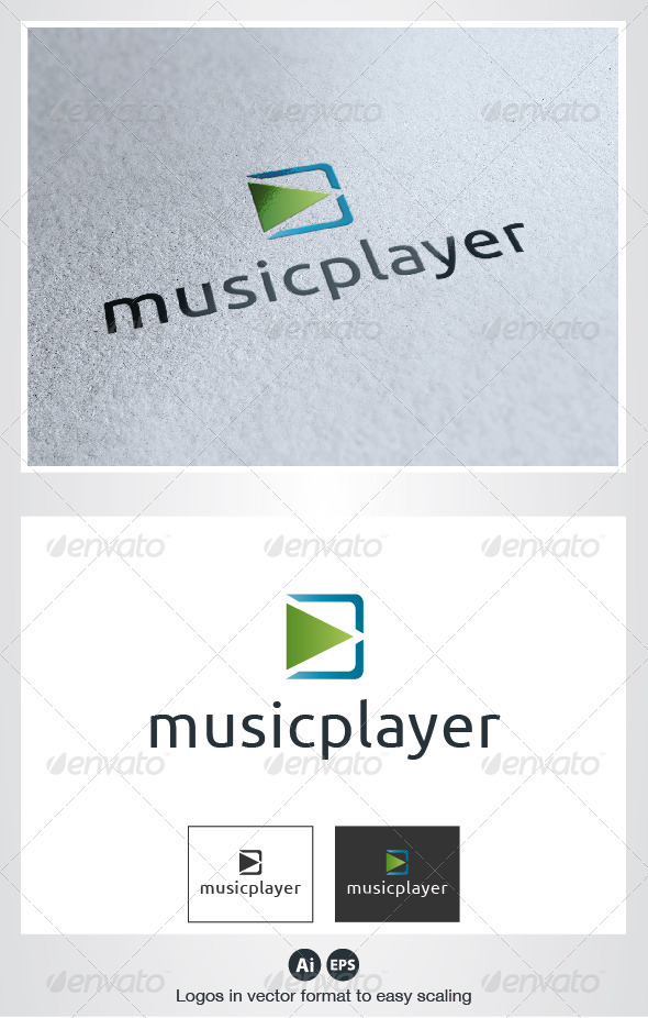 Music Player Logo - Symbols Logo Templates