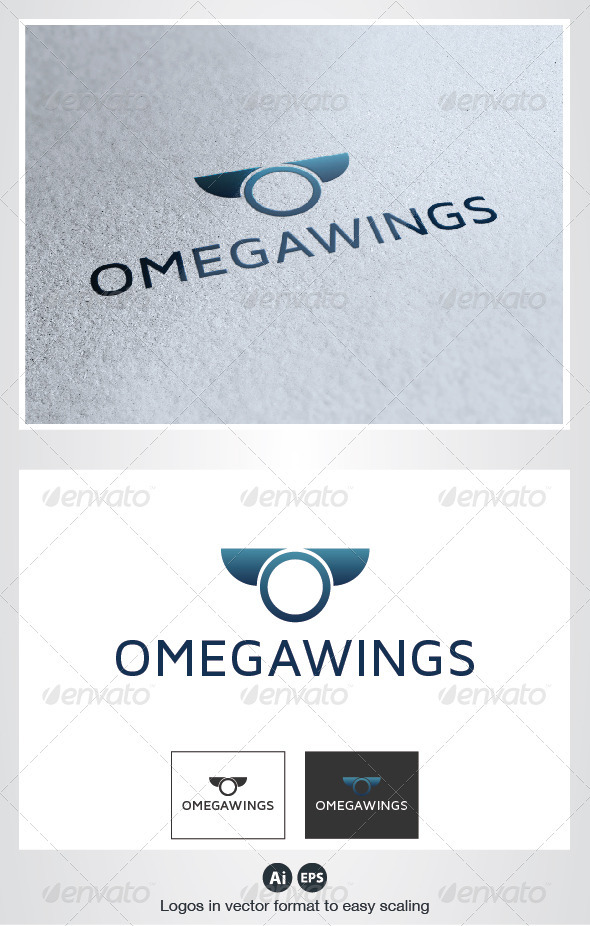 GraphicRiver Omega Wings Logo 2738328