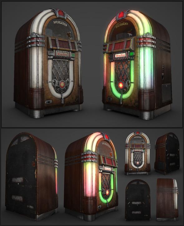 Lowpoly Wurlitzer Jukebox - 3DOcean Item for Sale