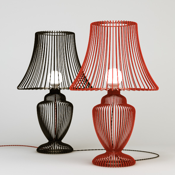 Deadgood Wire Table Lamp - 3DOcean Item for Sale