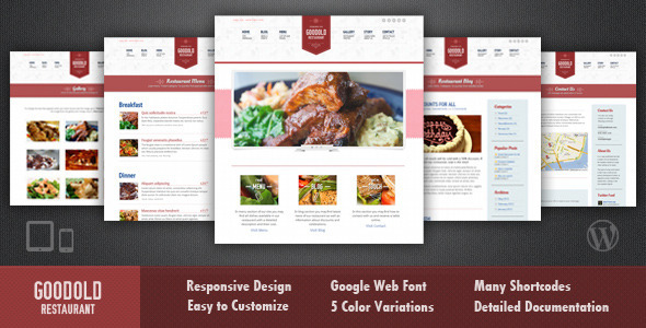 Goodold Restaurant - A New Responsive Premium WordPress Theme