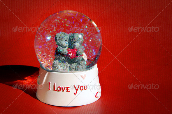 Love Snow Globe - Stock Photo - Images