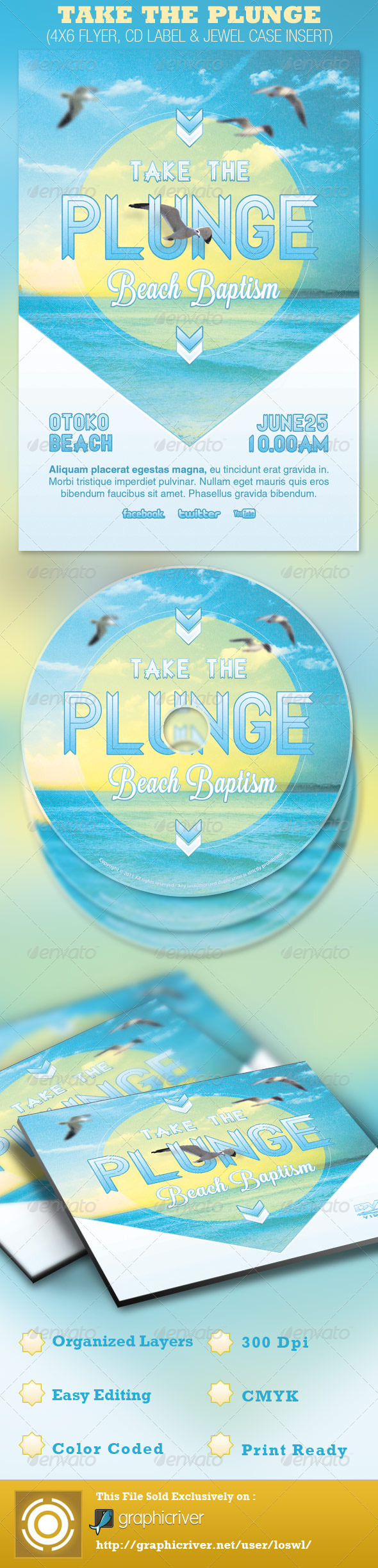 Take the Plunge Church Flyer and CD Template