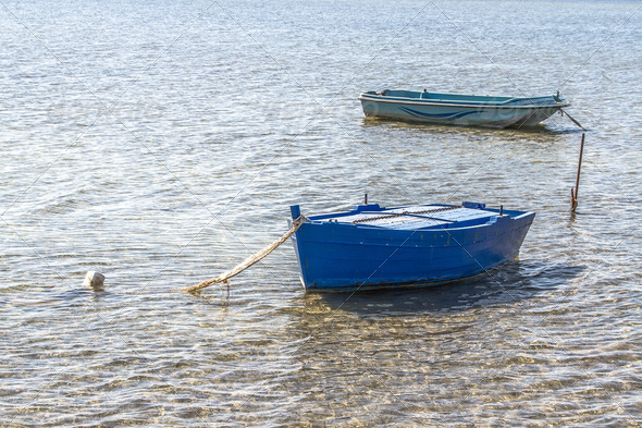 boats on the lake - Stock Photo - Images