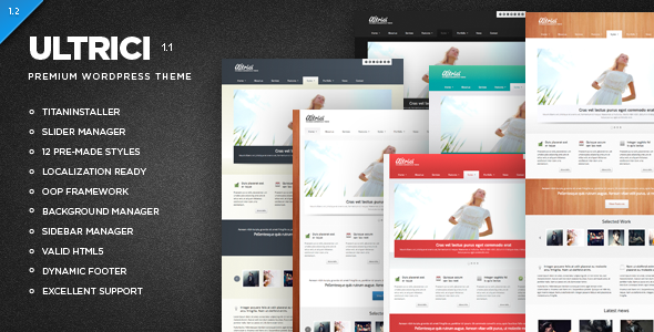 ThemeForest Ultrici Premium WordPress Theme 2207916