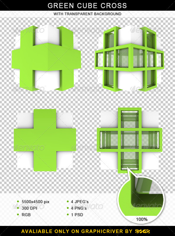 Medical 3D Cross Cube - Objects 3D Renders