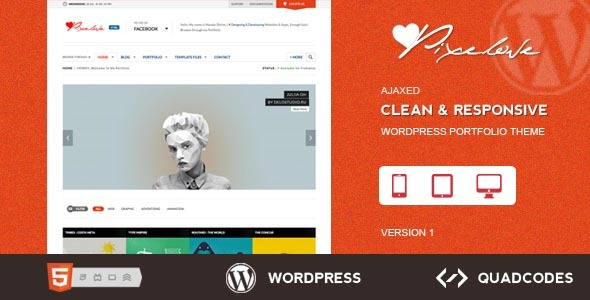 Pixelove - Clean & Responsive WordPress Theme
