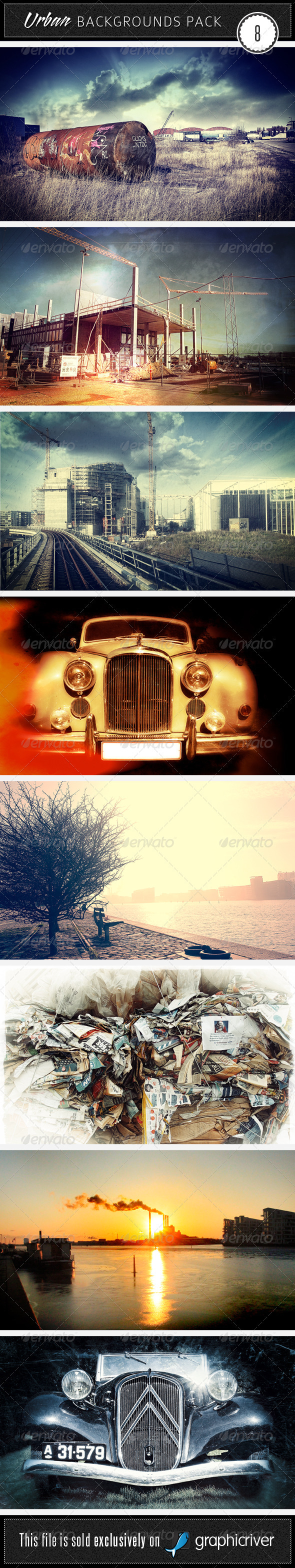 GraphicRiver Urban Backgrounds Pack 8 2367743