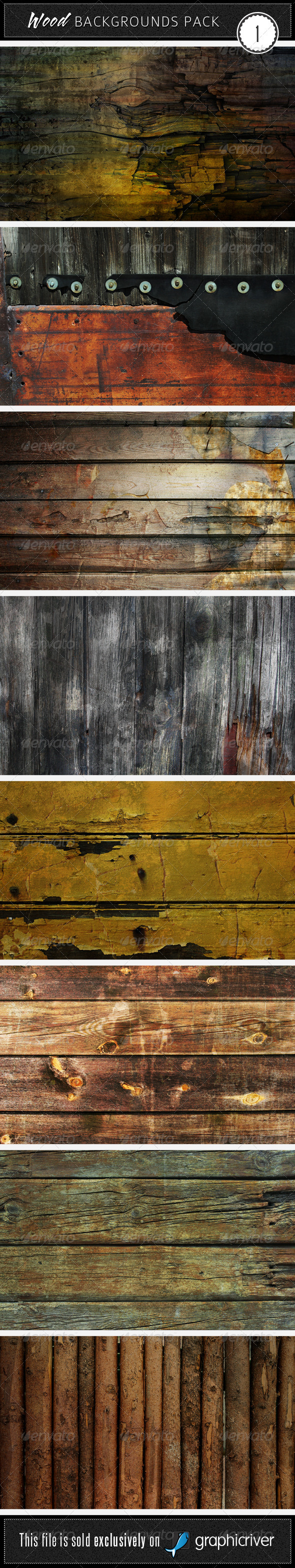 Wood Backgrounds Pack 1
