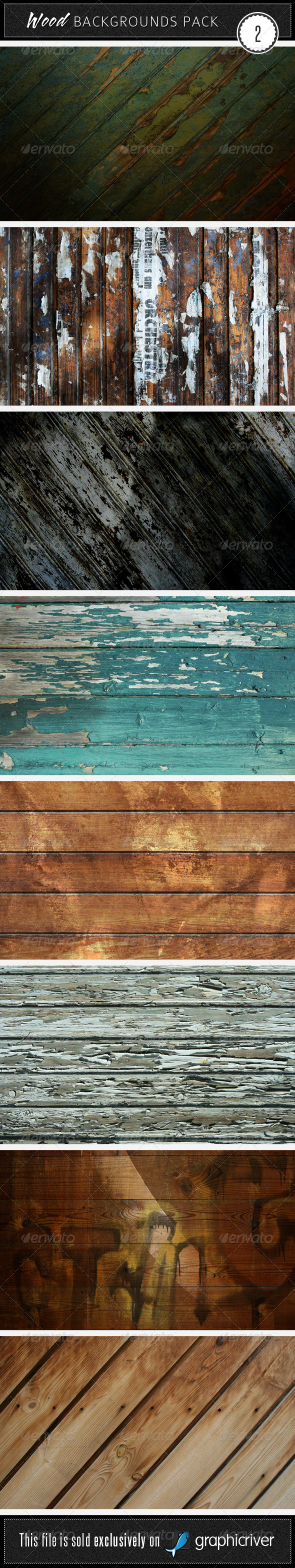 GraphicRiver Wood Backgrounds Pack 2 48497