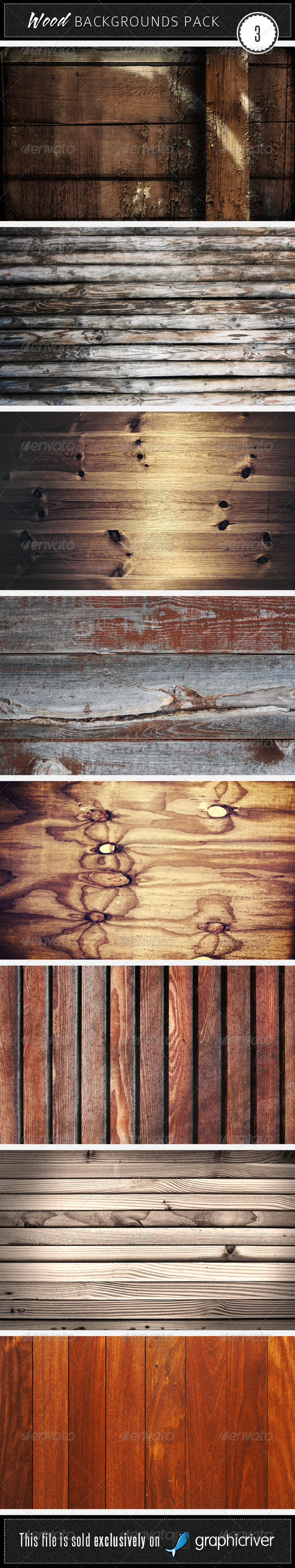 Wood Backgrounds Pack 3