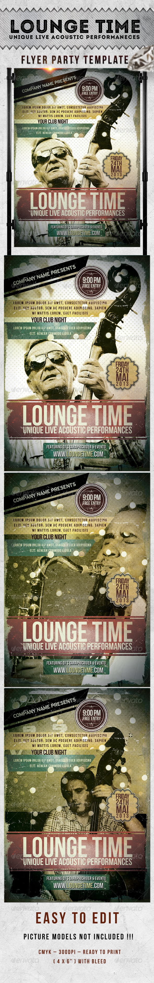 Lounge Time Flyer Template