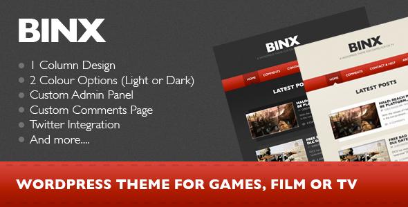 Binx wordpress theme download