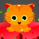 Cat in a gift box e-card Animation - ActiveDen Item for Sale