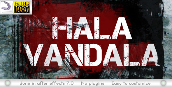 After Effects Project - VideoHive Hala Vandala 2746726