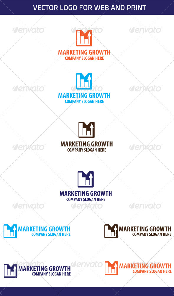 Marketing Growth Logo Template - Symbols Logo Templates