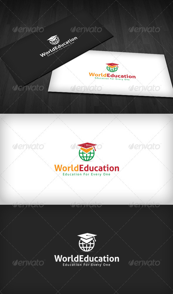 World Education Logo - Objects Logo Templates
