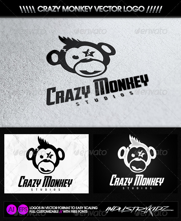 GraphicRiver Crazy Monkey Studios Logo 2742335