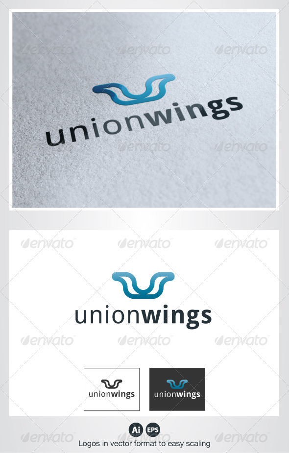 GraphicRiver Union Wings Logo 2747454
