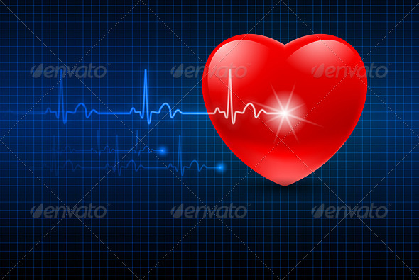 Abstract Heart Monitor
