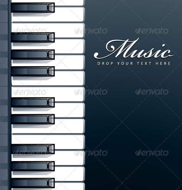 GraphicRiver Piano keys background 2747862