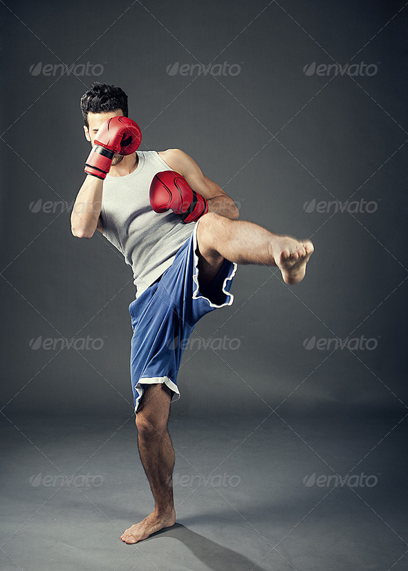 Kick boxer - Stock Photo - Images