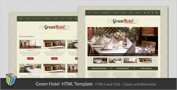 Green Hotel - Classic and Minimalist HTML Template