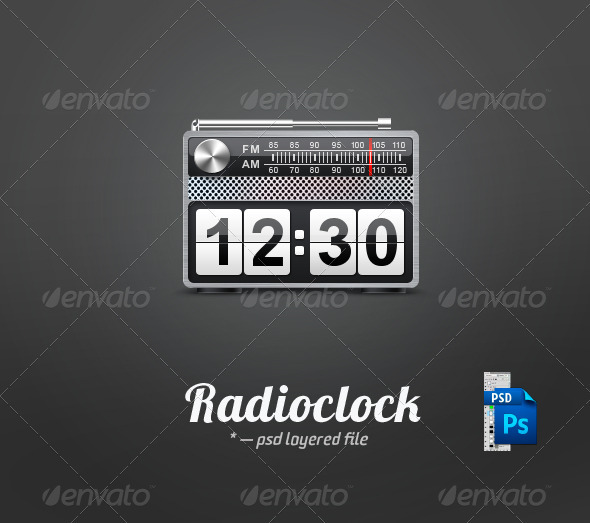 Vintage Radioclock - Objects Illustrations