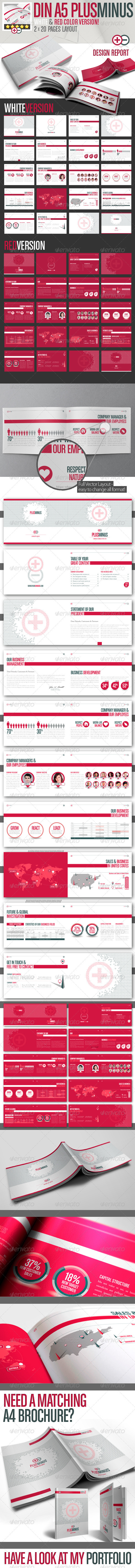 GraphicRiver PLUSMINUS Corporate Brochure A5 2 Color Version 2748262