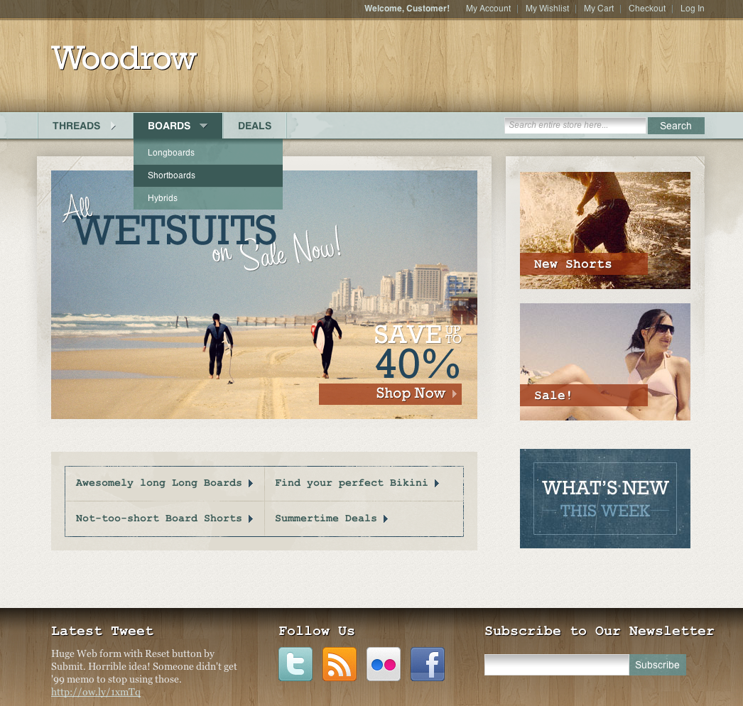 Woodrow — Customizable Magento Theme