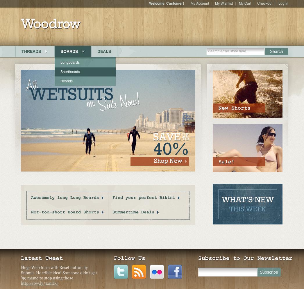 Woodrow — Customizable Magento Theme