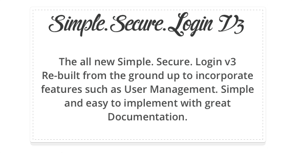 CodeCanyon Simple Secure Login v3 2748367