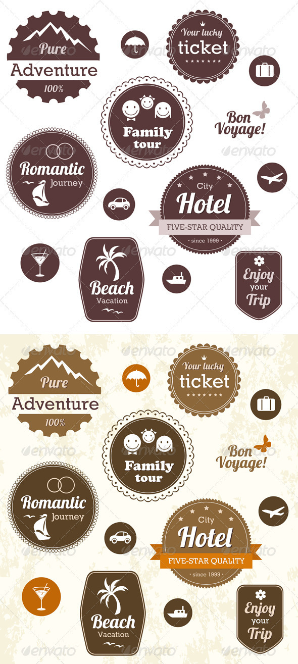 GraphicRiver Travel And Vacation Emblems Set 2631857