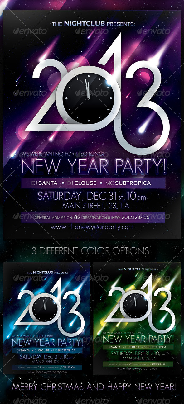 2013 New Year Party Poster - Clubs & Parties Events