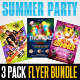 Summer Party Flyer Templates Bundle - GraphicRiver Item for Sale