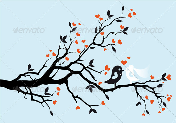 GraphicRiver Wedding Birds 1529534