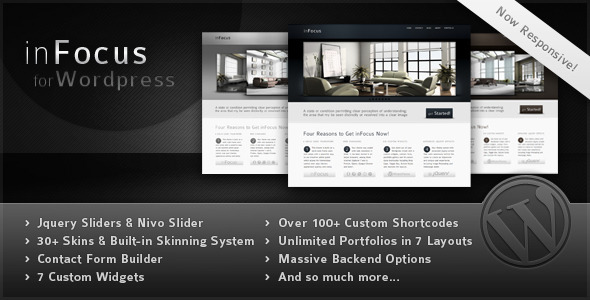 ThemeForest inFocus Powerful Professional WordPress Theme 85486