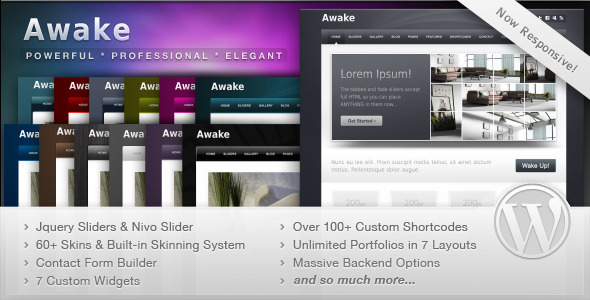 ThemeForest Awake Powerful Professional WordPress Theme 111267