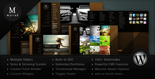 ThemeForest Myriad Powerful Professional WordPress Theme 1251784
