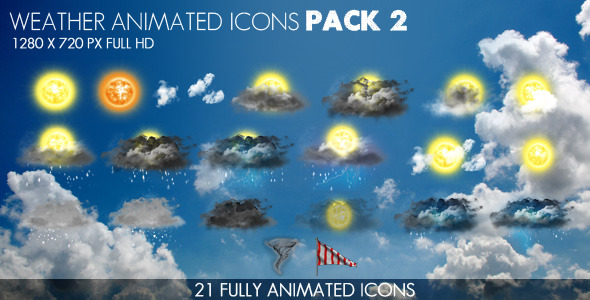 VideoHive Weather Icons Pack 2 2751347