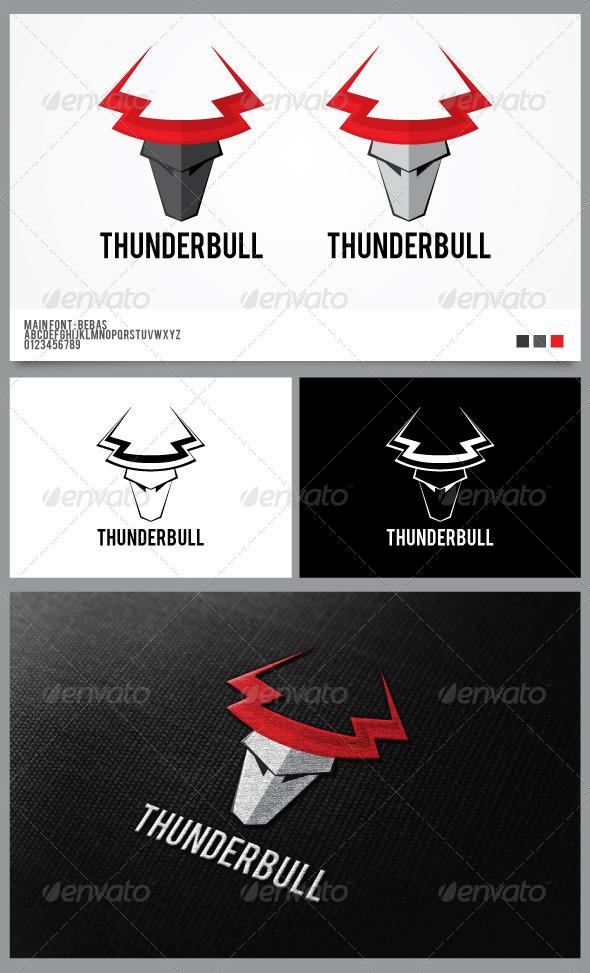 Thunder Bull Logo Template