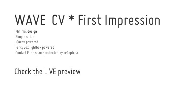 WAVE CV * First Impression - Please Check the LIVE PREVIEW