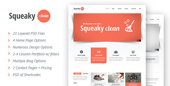 Squeaky Clean | PSD - Creative PSD Templates