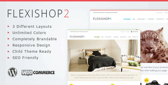 WP Flexishop 2 - A Flexible WooCommerce Theme - WP FlexiShop 2 Theme - A Flexible and Responsive Wordpress Theme For WooCommerce