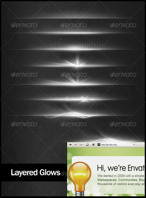 Layered Glows - Web Elements