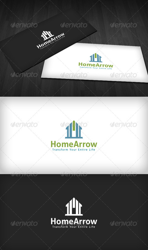 Home Arrow Logo - Buildings Logo Templates