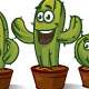 3 x Cactus Characters - GraphicRiver Item for Sale