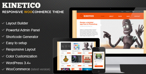 Kinetico - Responsive WordPress E-Commerce - WooCommerce eCommerce