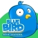 Blue Bird Using Tablet - GraphicRiver Item for Sale