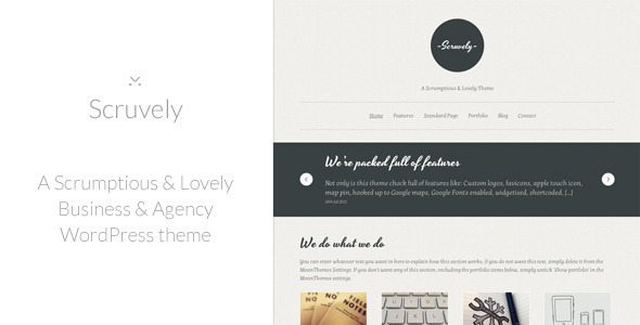 Scruvely - A New Typographic Business & Creative Premium WordPress Theme
